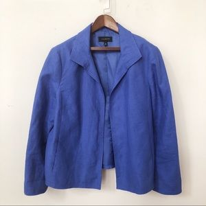 Talbots linen blue blazer women jacket